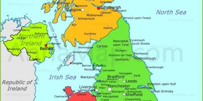 Ang United Kingdom mapa