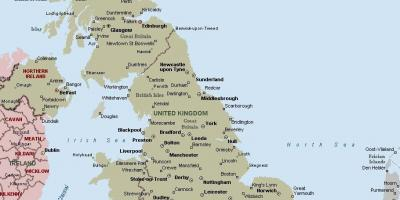 Great Britain mapa ng lungsod